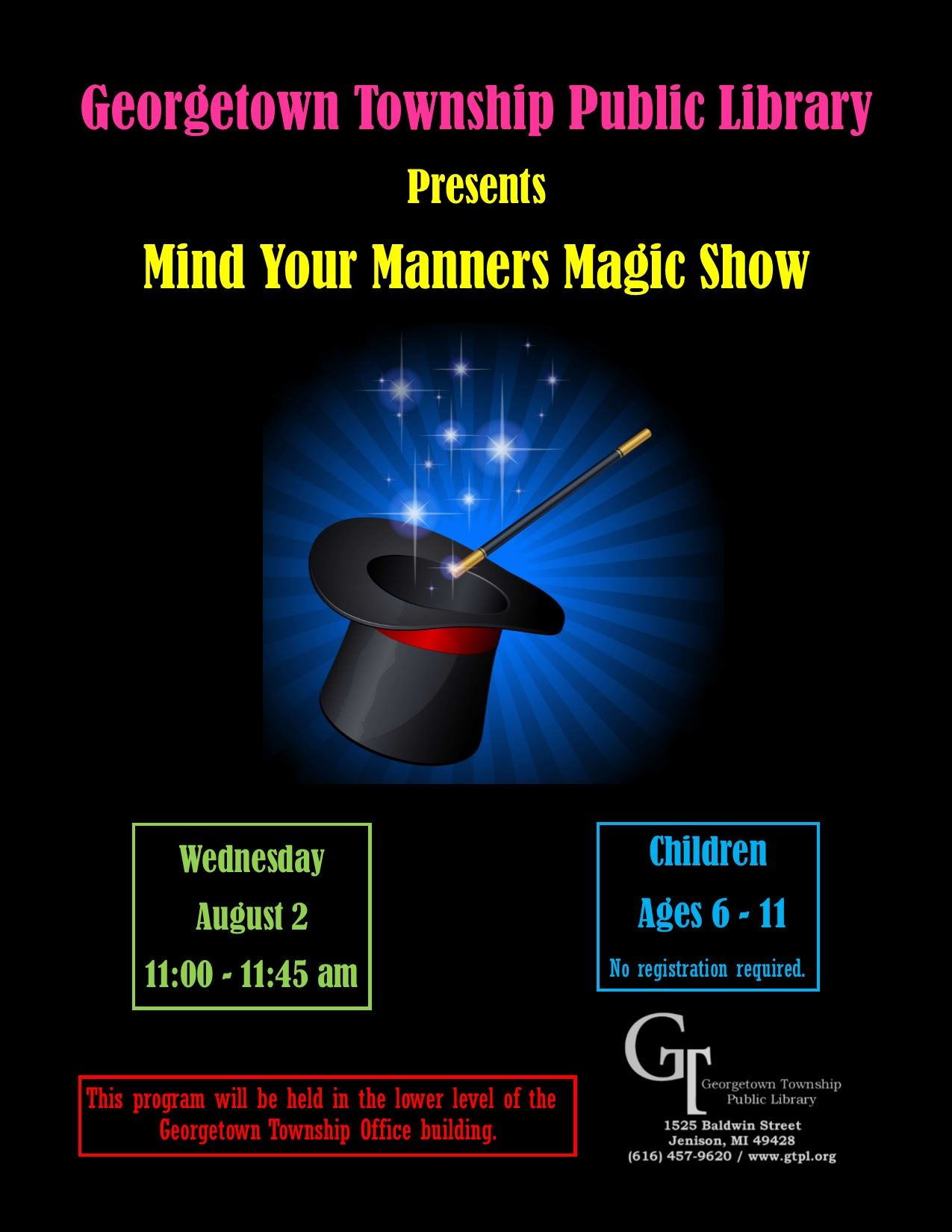 Mind Your Manners Magic Show 08.02.17