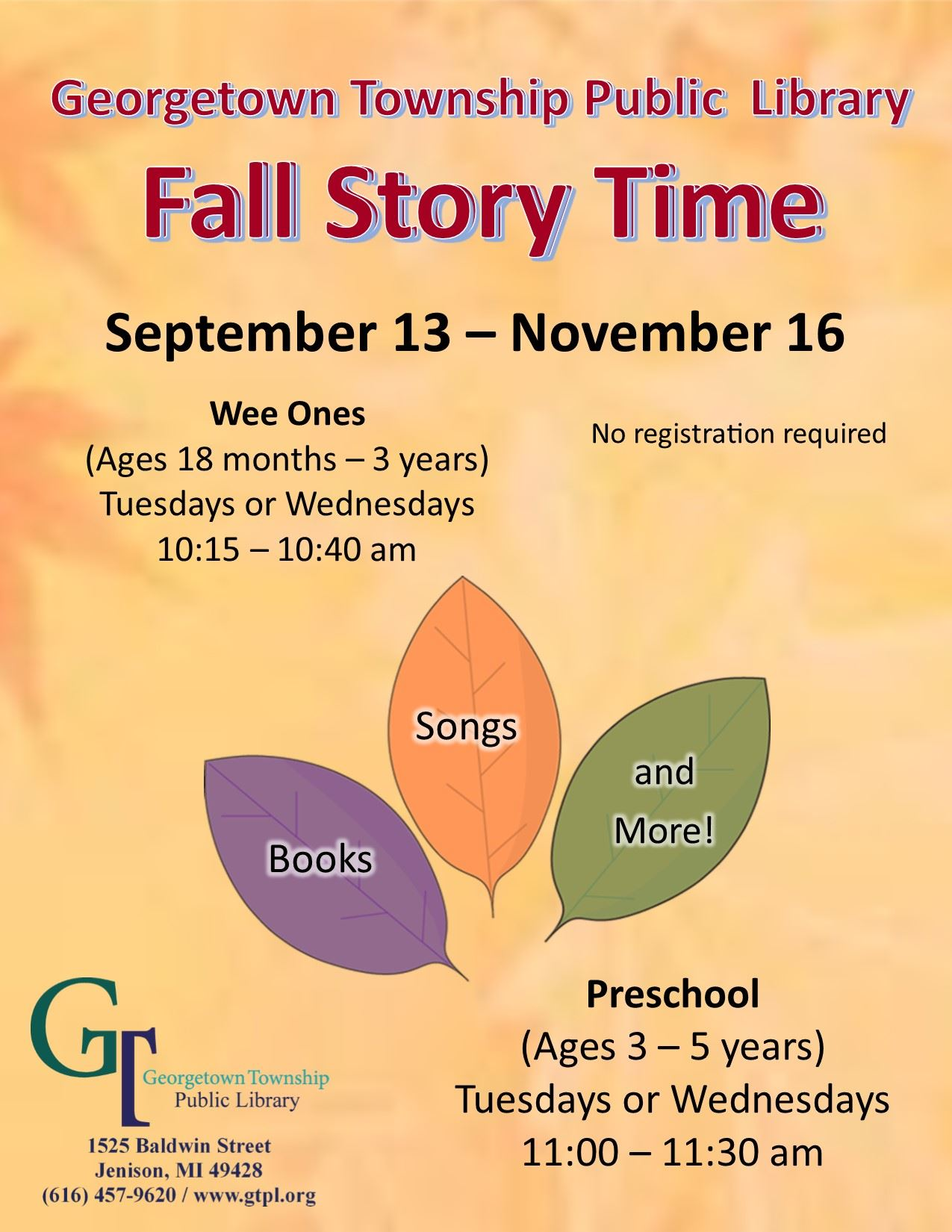 Story Time Fall 2016